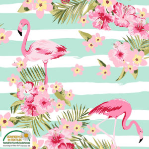 Stof of Denmark Avalana Jersey – Flamingo Stripes