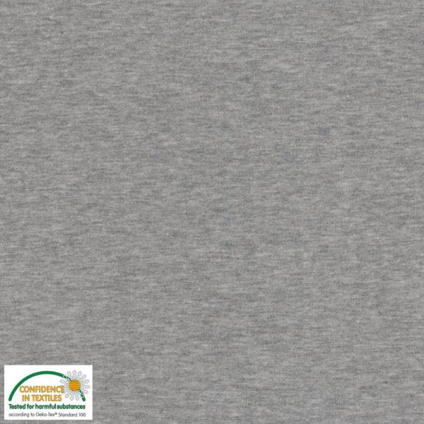 Stof of Denmark Avalana Sweatshirt Melange Jersey - Plain Grey