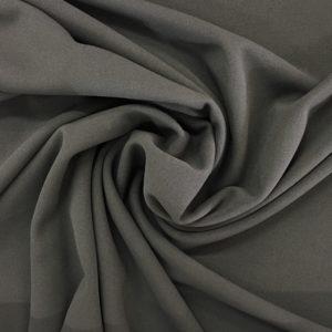 Scuba Crepe Stretch Jersey Knit - Charcoal Grey