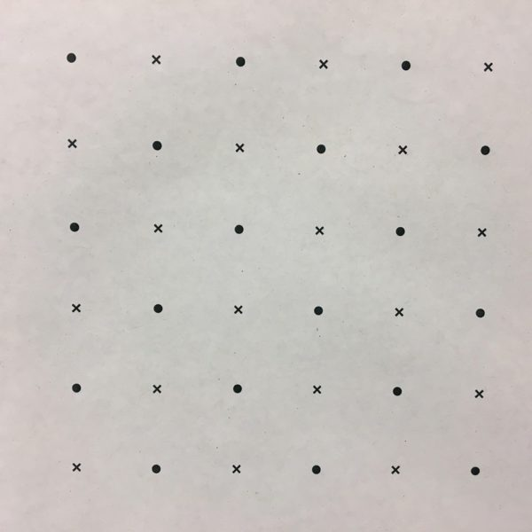 Wide Dot and Cross Pattern Paper