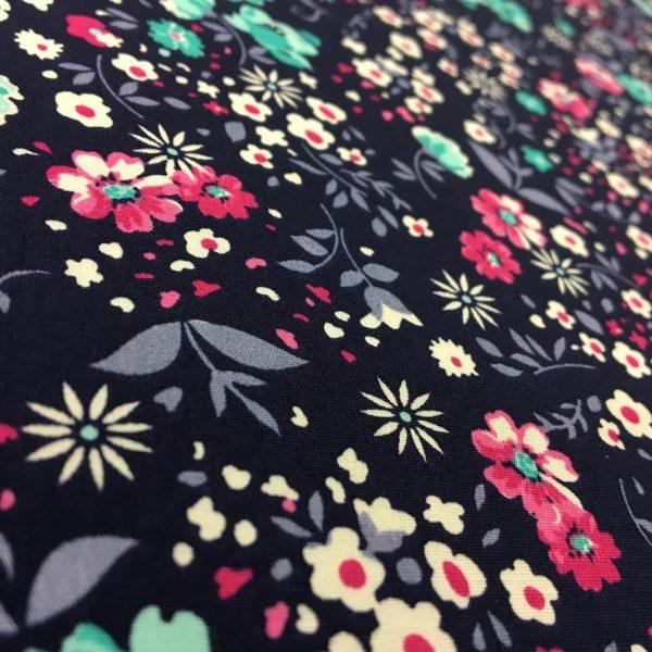 Rose & Hubble 100% Cotton Floral Print - Navy