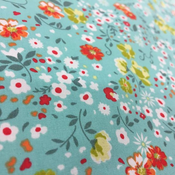 Rose & Hubble 100% Cotton Floral Print - Mint