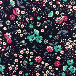 Rose & Hubble 100% Cotton Floral Print - Navy