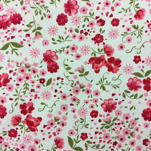 Rose & Hubble 100% Cotton Floral Print - Cream