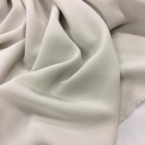 Heavy Triple Crepe Dress Fabric - Stone
