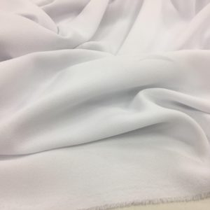 Heavy Triple Crepe Dress Fabric - White