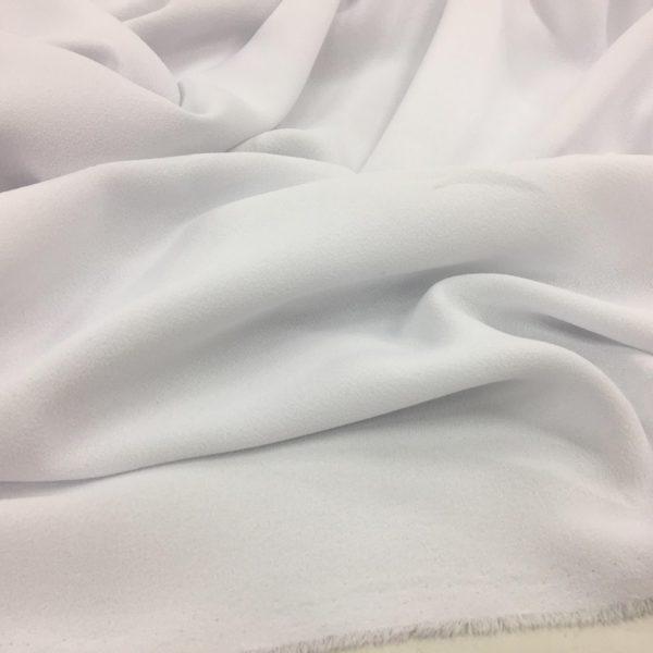 Heavy Triple Crepe Dress Fabric - White