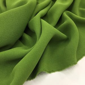 Heavy Triple Crepe Dress Fabric - Pea Green