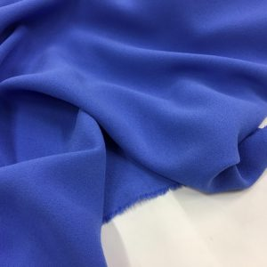 Heavy Triple Crepe Dress Fabric - Cornflower Blue