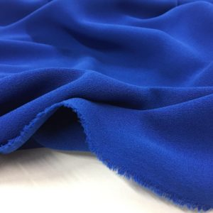 Heavy Triple Crepe Dress Fabric - Royal Blue