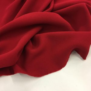 Heavy Triple Crepe Dress Fabric - Pillar Box Red