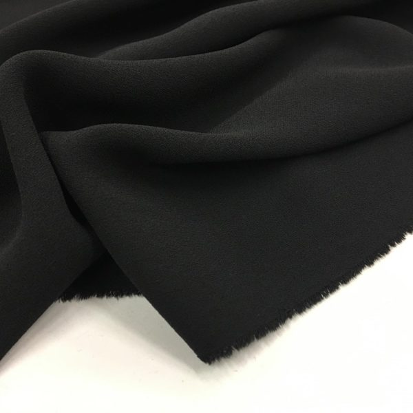 Heavy Triple Crepe Dress Fabric - Black