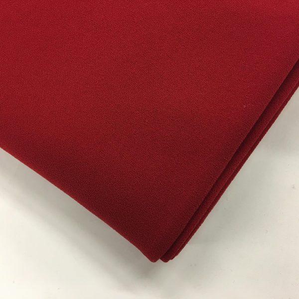 Heavy Triple Crepe Dress Fabric - Pillar Box Red