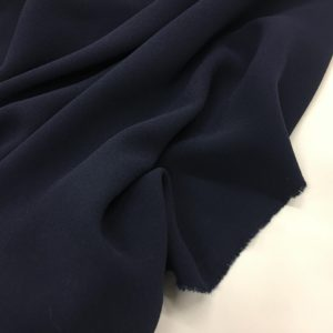 Heavy Triple Crepe Dress Fabric - Navy
