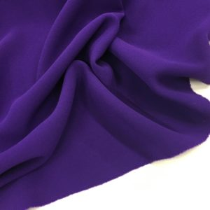 Heavy Triple Crepe Dress Fabric - Cadbury's Purple