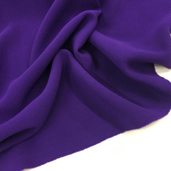 Heavy Triple Crepe Dress Fabric - Cadbury's Purple