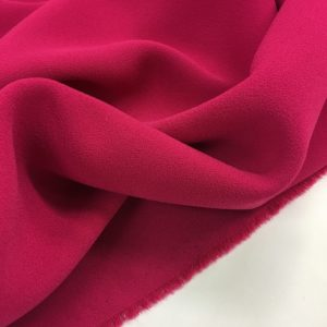 Heavy Triple Crepe Dress Fabric - Cerise