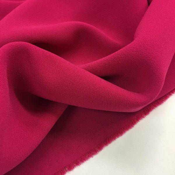 Heavy Triple Crepe Dress Fabric - Cerise