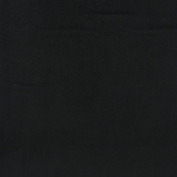 100% Cotton Babycord - Black