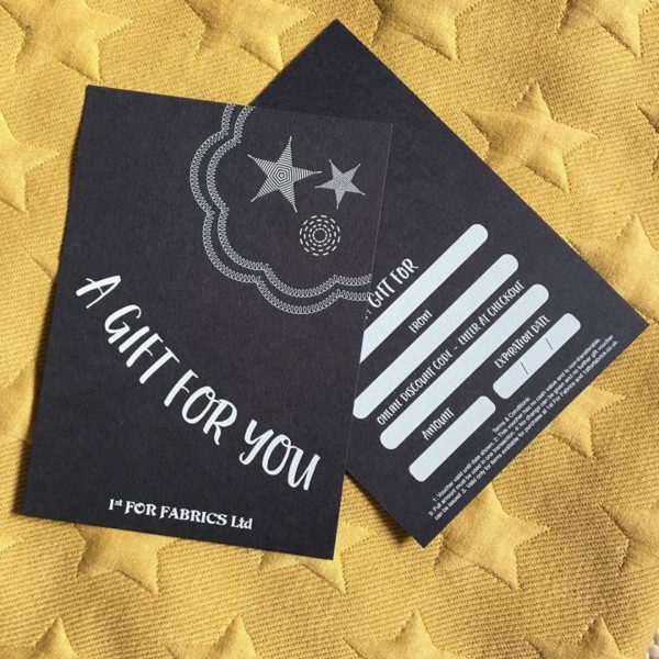 1st For Fabrics Gift Card - £50