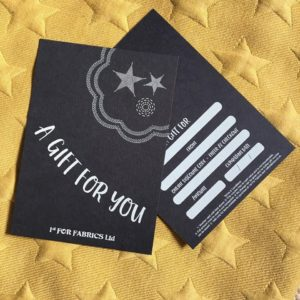 1st For Fabrics Gift Card - £15