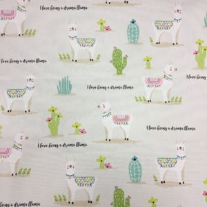 Fryetts Fabrics 100% Cotton Canvas - Drama Llama