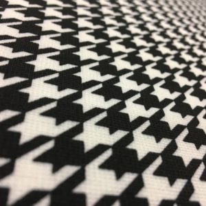 Poly Spandex Jersey - Black & White Dogtooth