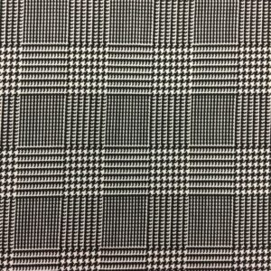Poly Spandex Jersey - Black & White Check