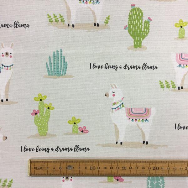 Fryetts Fabrics 100% Cotton Canvas - Drama Llama