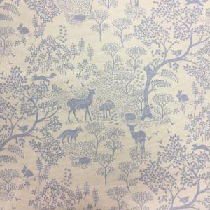 Fryetts Fabrics 100% Cotton Canvas - Woodland Life
