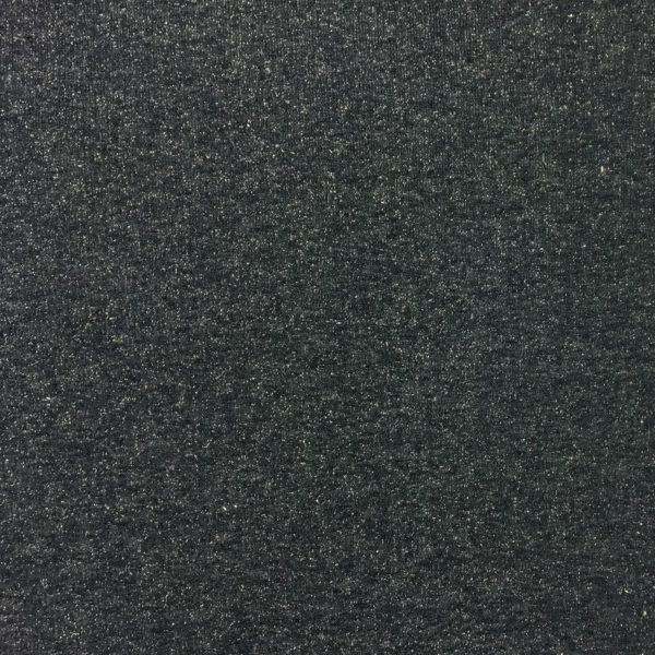 Fleece Backed Sweatshirting Lurex Jersey - Navy