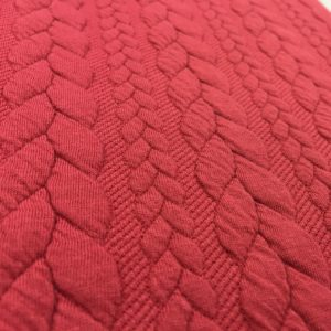 Cable Knit Cloque Jersey - Red Bramley