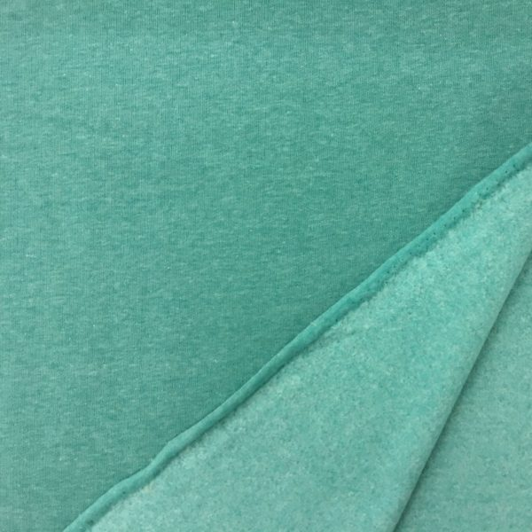 Fleece Back Sweatshirt Jersey - Mint Melange