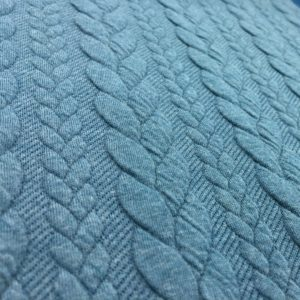 Cable Knit Cloque Jersey - Nile