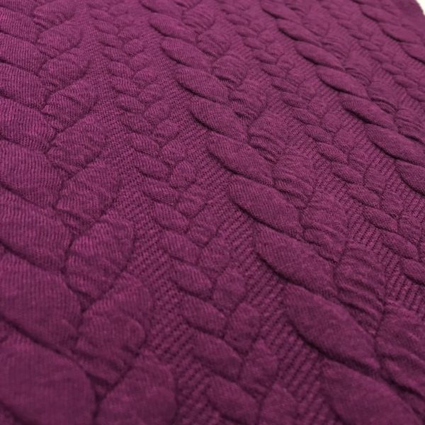 Higgs & Higgs Cable Knit Jersey - Aubergine