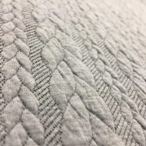Cable Knit Cloque Jersey - Light Grey
