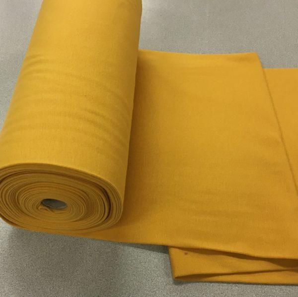 Tubular Jersey Rib/Cuffing - Mustard