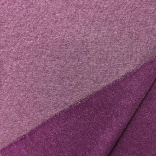 Fleece Back Sweatshirt Jersey - Lilac Melange