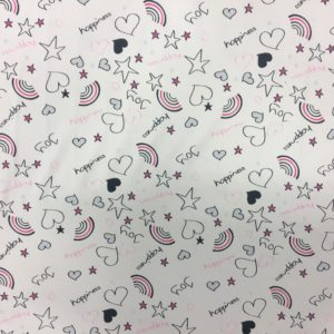 Stof of Denmark Avalana Jersey – Pink Doodles