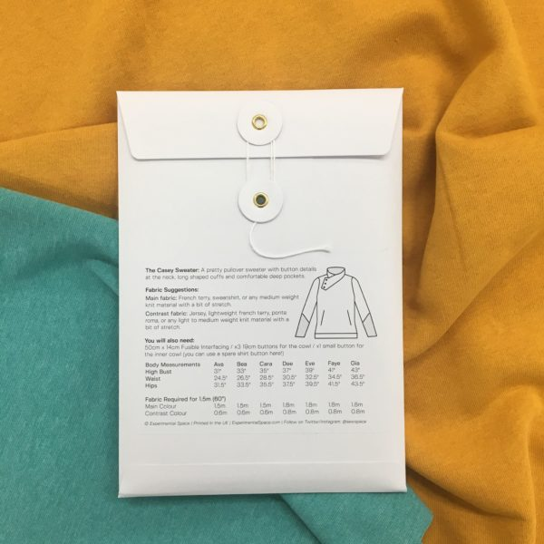 Experimental Space Casey Sweater Sewing Pattern