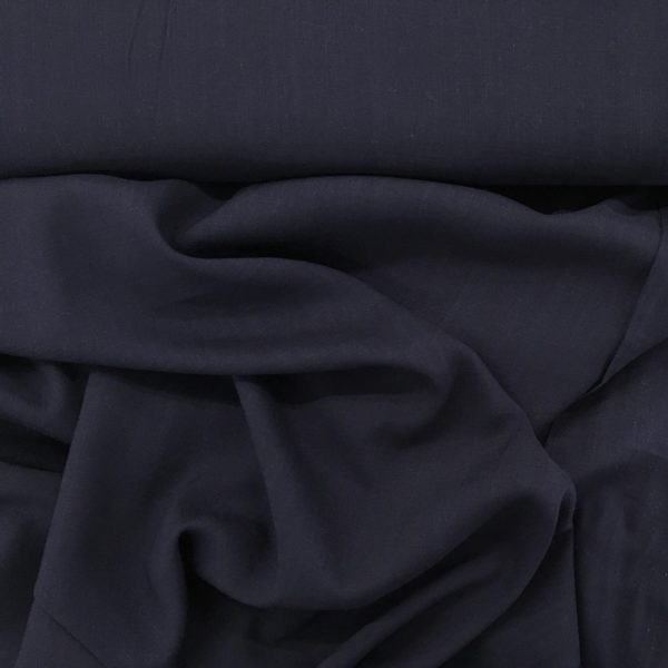 Lightweight Linen-look 100% Viscose - Navy