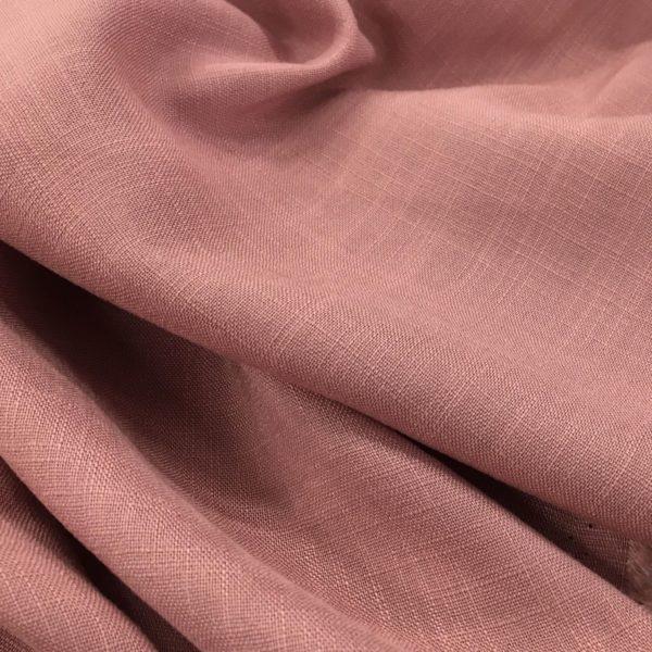 Lightweight Linen-look 100% Viscose - Rose
