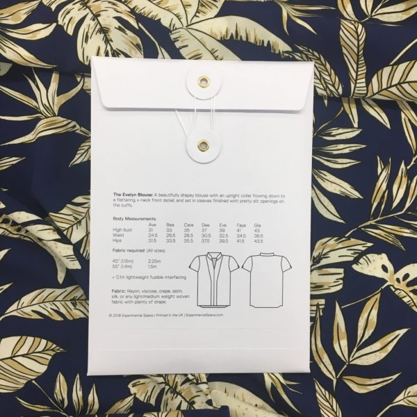 Experimental Space Evelyn Blouse Sewing Pattern
