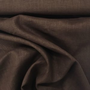 Enzyme Washed 100% Linen - Chocolate