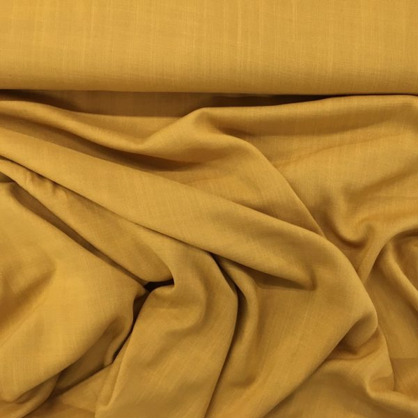 Lightweight Linen-look 100% Viscose - Ochre