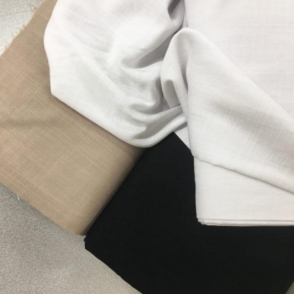 Lightweight Linen-look 100% Viscose - White