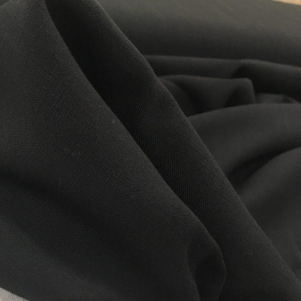 Lightweight Linen-look 100% Viscose - Black