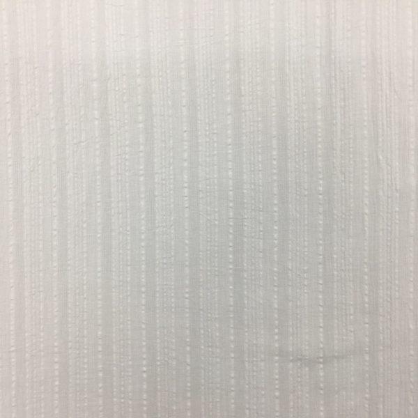 Lightweight 100% Cotton Gauze - Textured Stripe - White