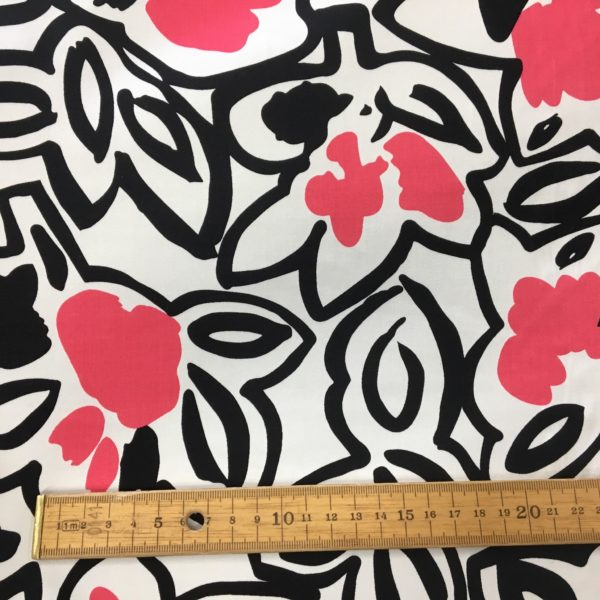 Comfort Stretch Cotton - Abstract Flower