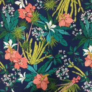 Lady McElroy 100% Viscose Soft Challis Lawn - Floridian Narcisco